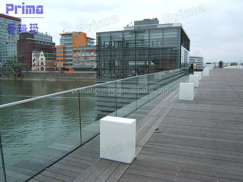 Aluminuim U Shape Base Channel Railing Glass For Staircase