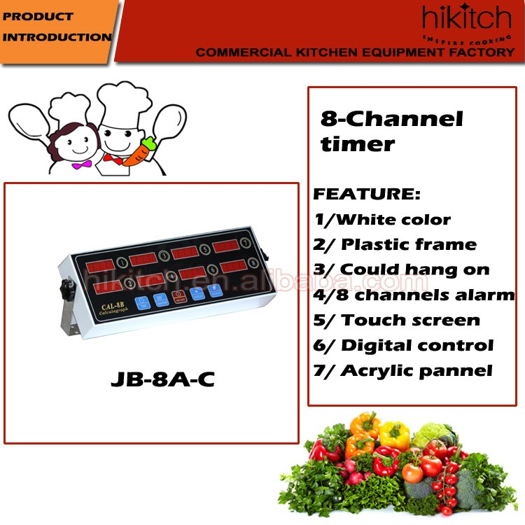 Restaurant Kitchen Timers fast food restaurant timers touch screen 8 channels digital