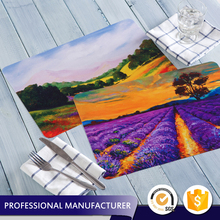 Eco-Friendly custom made full color plastic printed mat material PP placemat