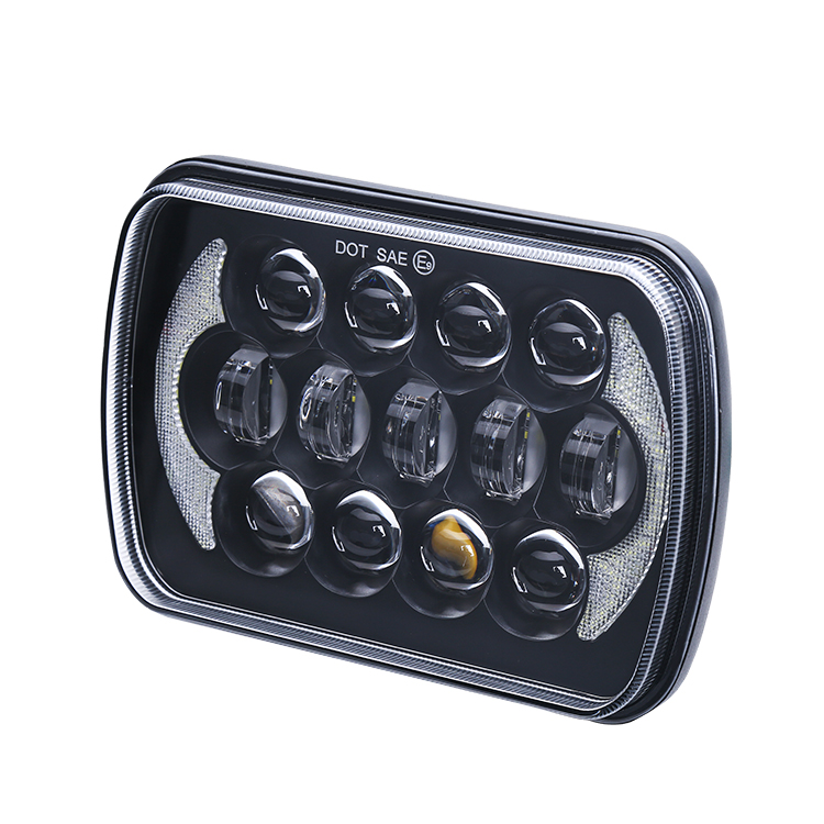 high quality 7x6 5x7inch truck headlight cheap for jeep 5x7 led headlight with white drl