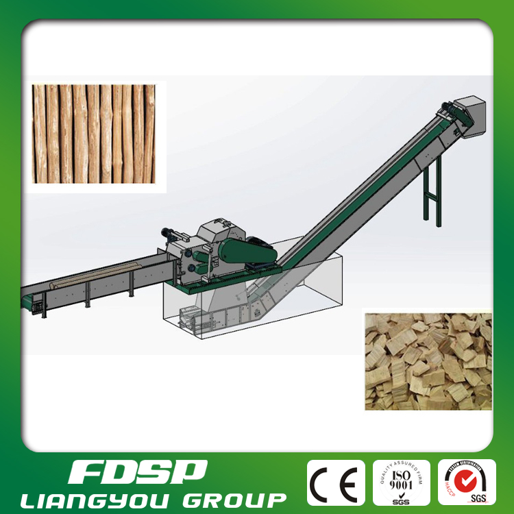 High efficiency large industrial electric firewood processor