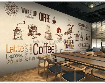 Papel Tapiz Cafe Estereo Personalizado Mural Grande Minimalista