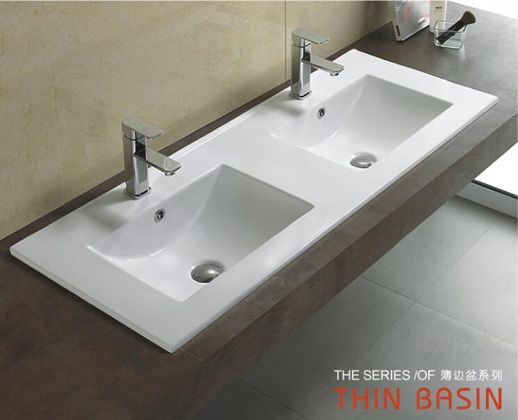 Laatste super dunne slim rand art keramische wastafel toilet