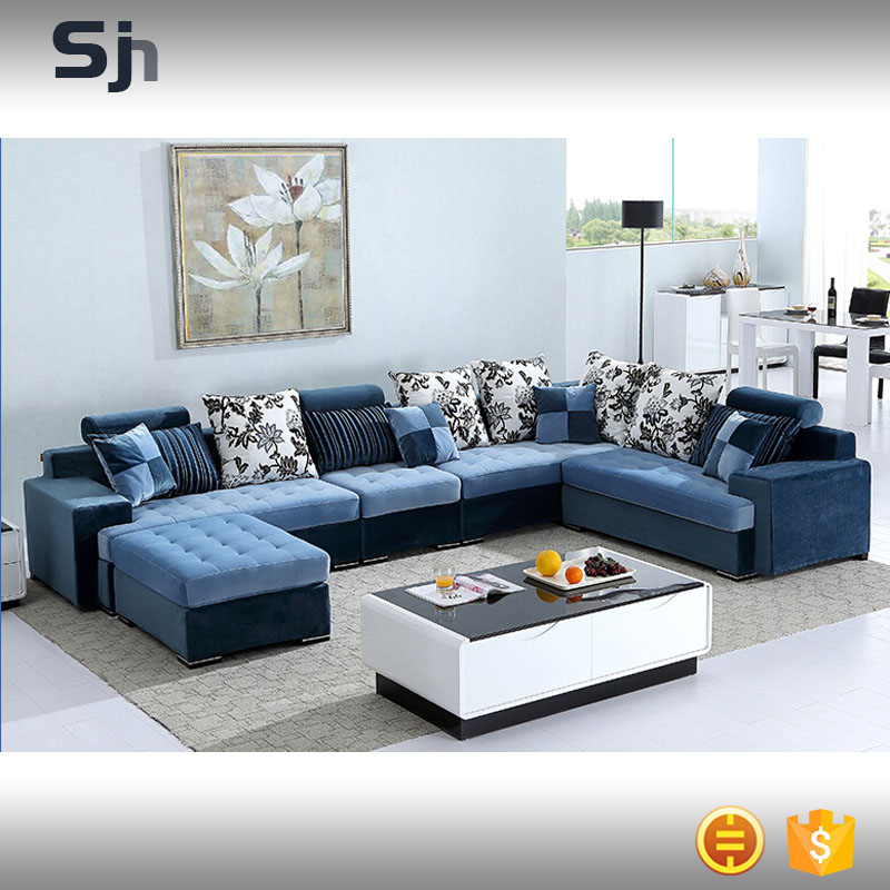 7 sofa aspect 7 seat fabric modular sofa with ottoman for Sofa 7 seater