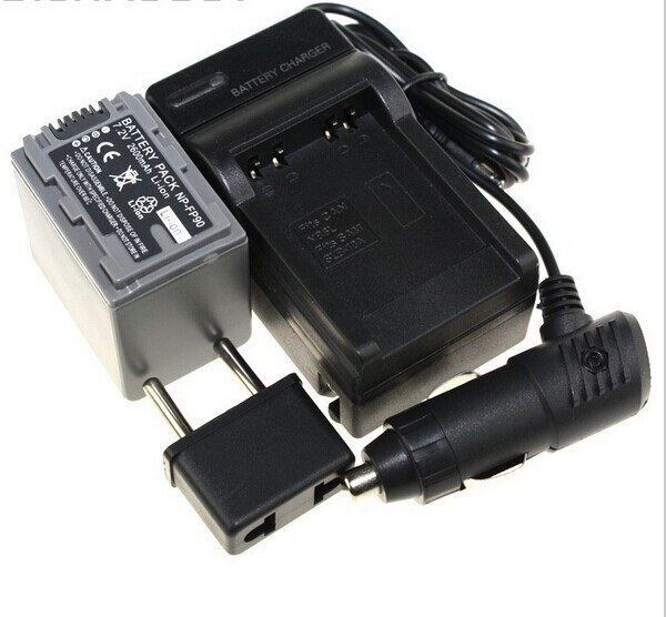 Digital Boy (3pcs/set) 1pcs NP-FP90 NP FP90 Camera Battery+Charger+Car Charger For Sony NP FP30 FP50 FP60 FP70 FP90