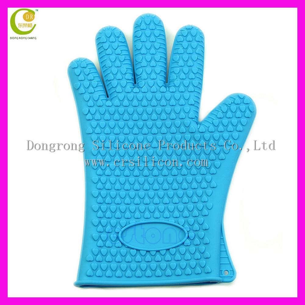 Dongguan Silicone Resistente Ao Calor Grelhar Churrasco Luva Luvas