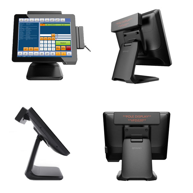Supermarket Capacitive Touch Windows Billing Machine All In One Pos Machine