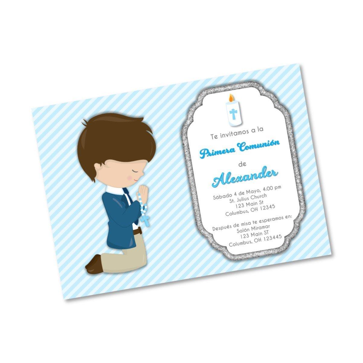 buy boy first communion invitations  invitaciones de