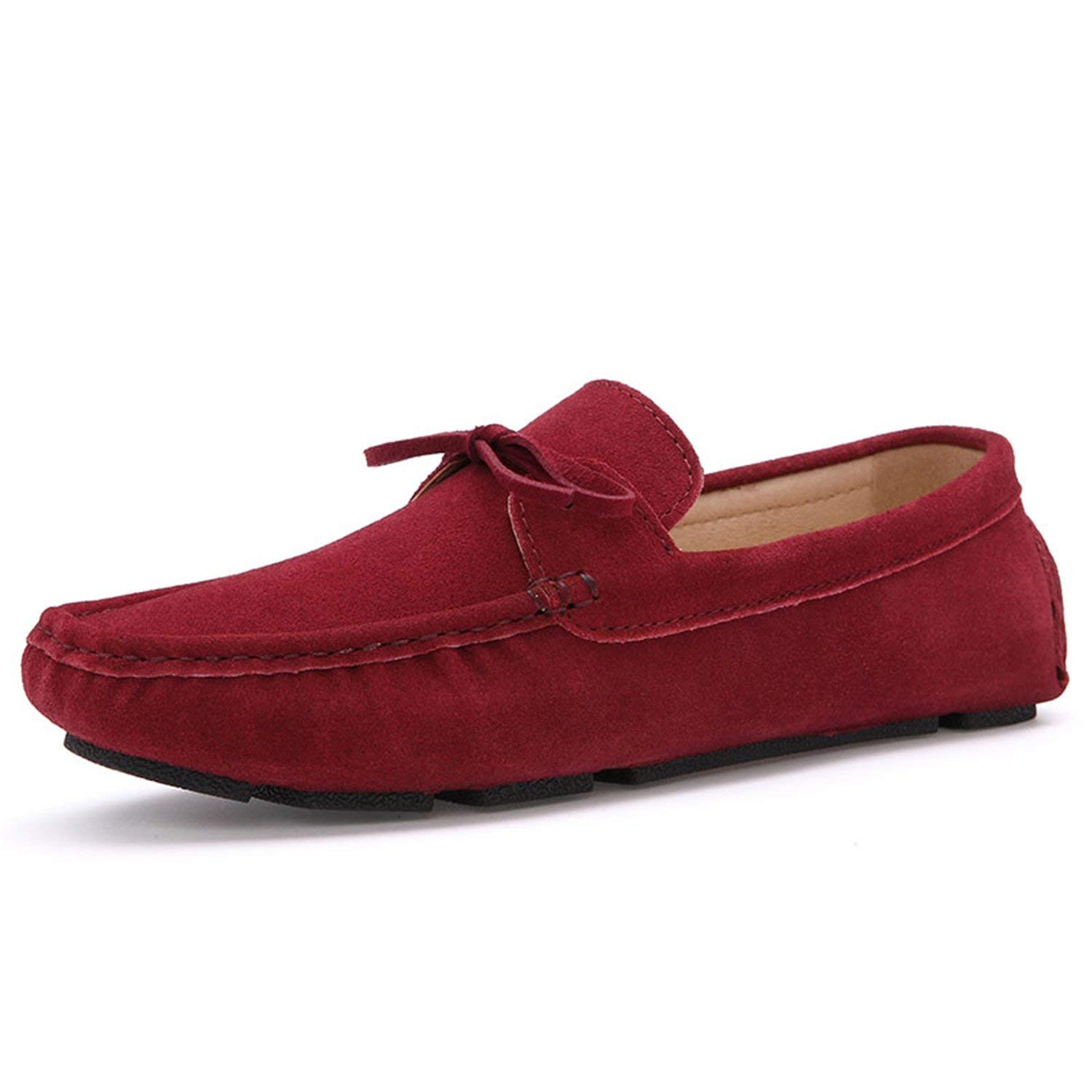 d5baa7bbfb5 Get Quotations · Orcan Bluce Spring Autumn Men Loafers Casual Suede Leather  Shoes Navy Blue Slip on Shoes