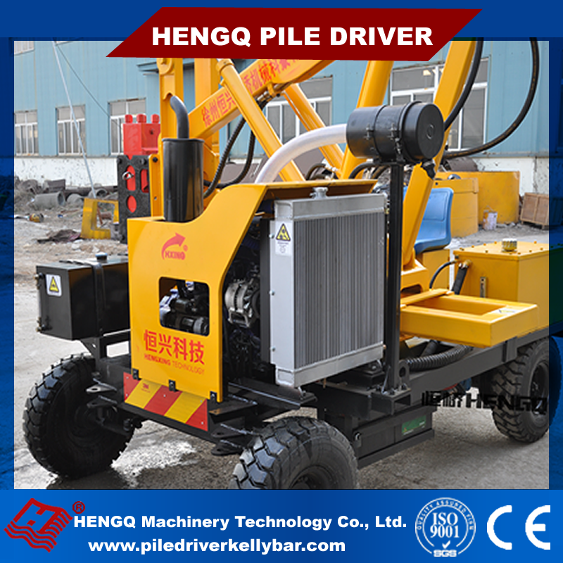 Road Safety Protection Piles Post Machine Pile Machine Manufacturer With GPS Optional