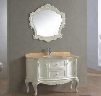Curved Bathroom Vanity Cabinet