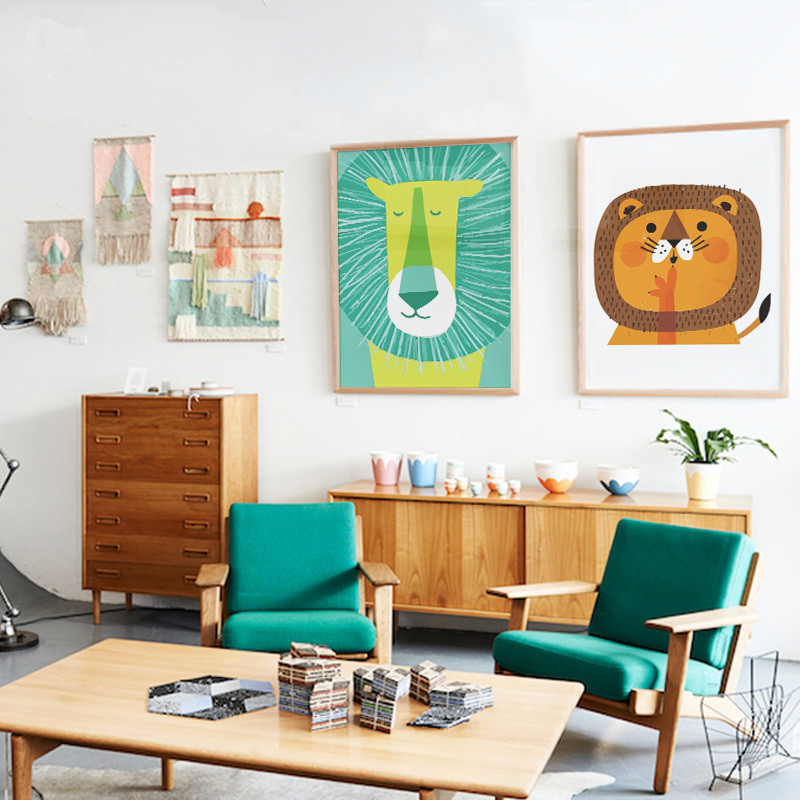 Home Office Decor For Private Impression: Animaux Affiches Pour Enfants Promotion-Achetez Des