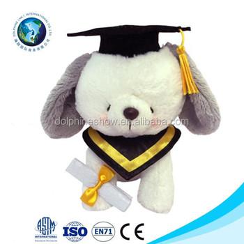 Anjing Dengan Topi Wisuda Kelulusan Boneka Hewan Mewah Buy Wisuda