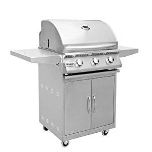 "26"" Sizzler Built-in Grill with Cart Fuel Type: Natural Gas"