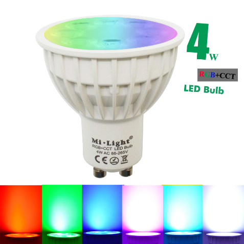 Mi light 2.4G rf remote/wifi control 4W GU10 RGB+CCT LED Spotlight
