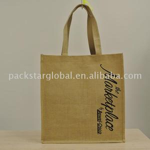 hot sale jute tote bag with PVC coating