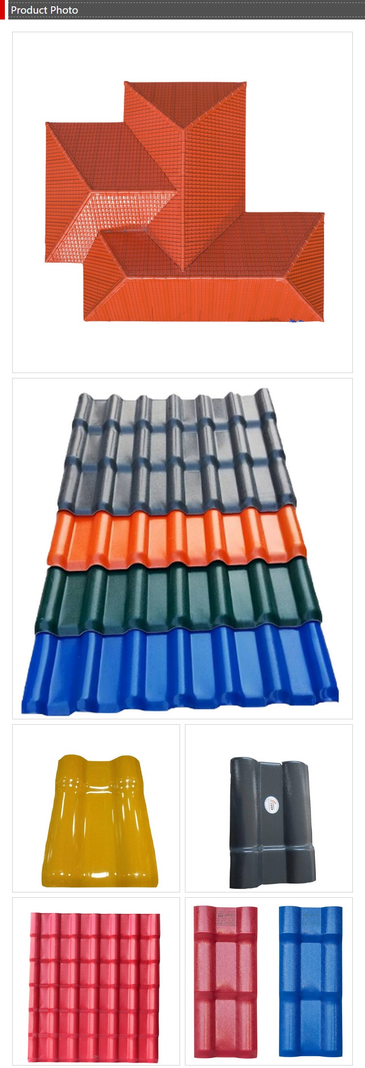 Yuehao plastic roof tiles wholesaler tiles lightweight plastic roof tiles design for water draining-6