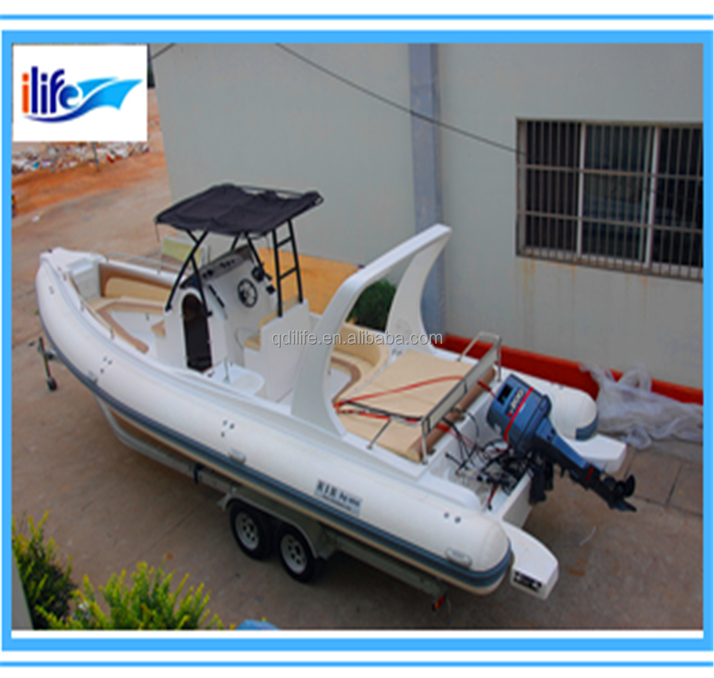 32ft/9.6m 17 passenger inflatable rib sightseeing boat with motor