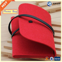 provide free sample custom felt wallet cell phone case in stock