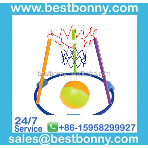 FLOATING BASKETBALL BALL HOOP GAME FOR SWIMMING POOL LAKE BEACH