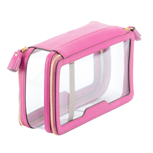 Inflight clear PVC leather pouch cosmetic case travel toiletry bag