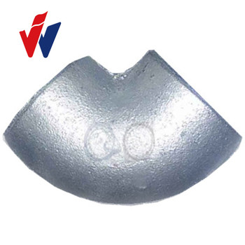Elbow 90 degree No1090 Plain Malleable Iron pipe fitting Two Times Baked Galv. BS threads