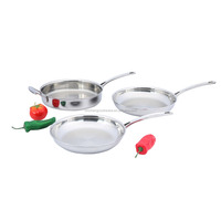 3ply nonstick chinese triply baking frying pan cookware set