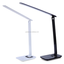 Folding LED Desk Lamp with USB Charger, 7 Level Dimmer, Touch Control & Timer - College Student, Bedroom, Office