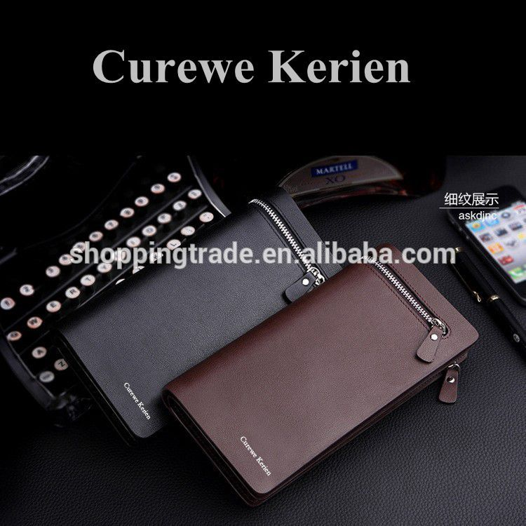 Classical high capacity Curewe Kerien pu leather <strong>wallet</strong> for men