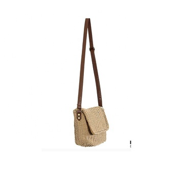 The New Vintage Color Matching Weaving Female Mini Korean Version Of Single-shoulder Bag Straw Bag Casual Fashion Simple Crafts