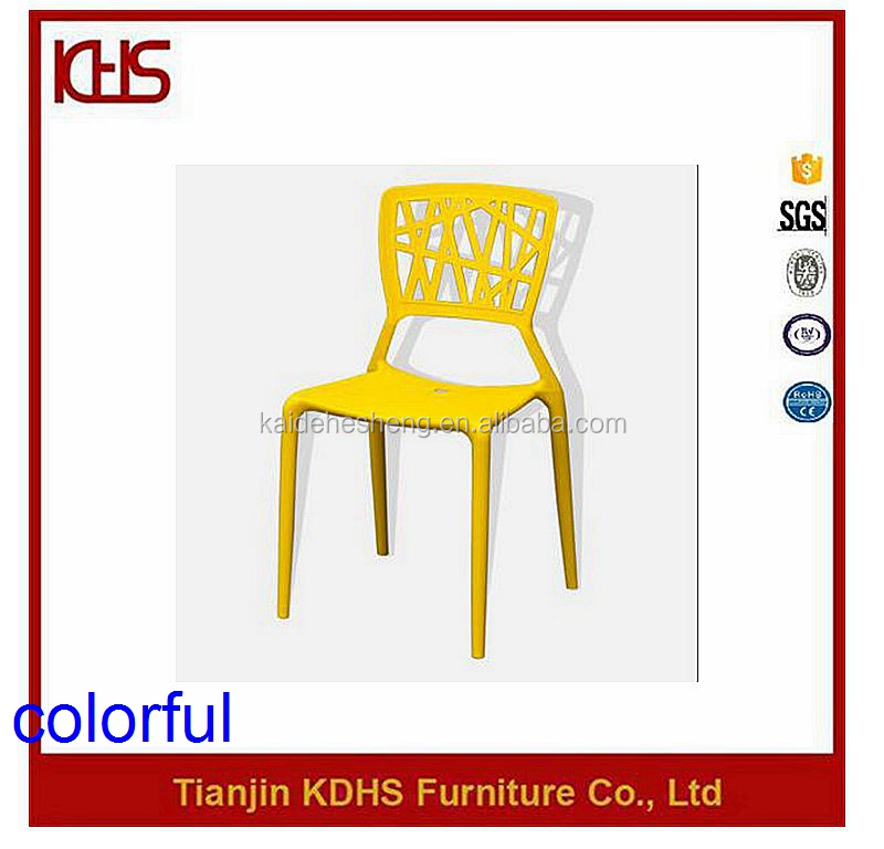 factory directly produce rustic plastic dining chair for heavy people