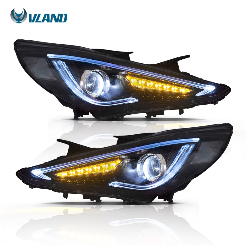 Vland Sequential Whole Led Headlight 6th Gen I45 Sonata 2017 Headlamp