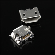 Micro USB Type B Female 5Pin Horns Type Charging Socket PCB Board Soldering Connectors For Mobile Phone Jack Connectors