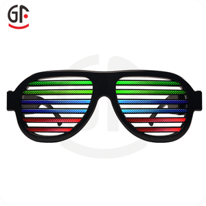 Chinese Products Novelties Perfect Promotional Gifts Flashing Custom Novelty Led Light Sunglasses Sound Activated