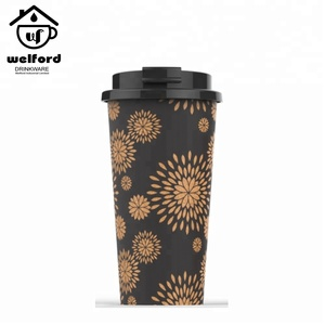 WFLC01 Welford Eco Friendly PP PLA Plastic 350ml 450ml Camping Mug Import From China Coffee Mug Free Sample Cork Mug