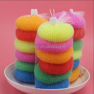 Household daily necessity products kitchen plastic cleaning mesh scourer