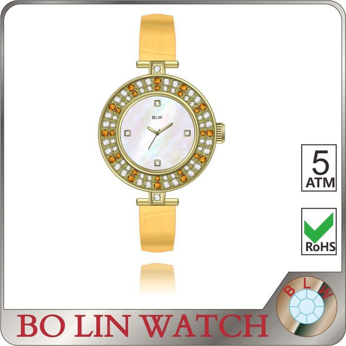 Single layer copper dial quartz wristwatches