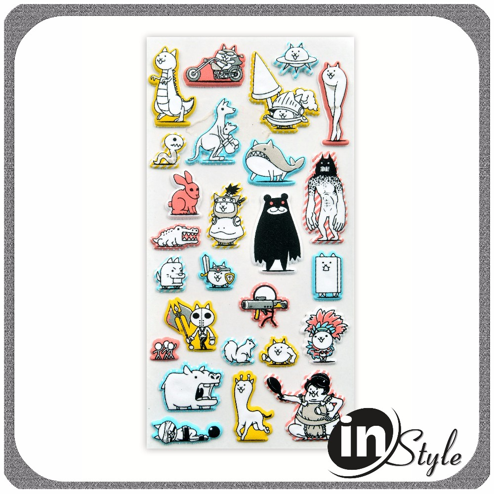 Wholesale puffy sticker cute design made in china