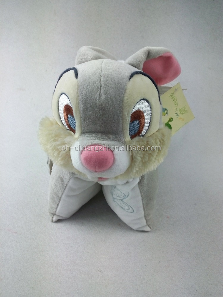 Creative plush cushion rabbit pillow plush custom toy customized foldable cushion