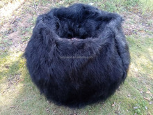 Large Faux Fur Beanbag Bean Bag Cover Shaggy Fur long fur black Soft Luxury Lounge Chair