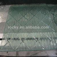U grooving glass