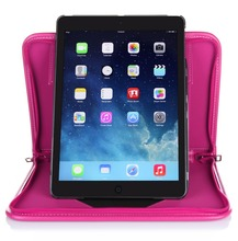Leather Rotation Durable Tablet Bag Shockproof Tablet Zipper Case For iPad Air 2