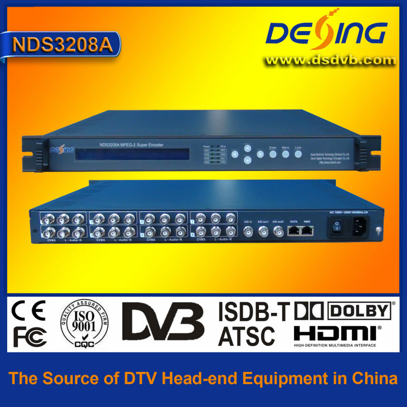 SD mpeg-2 8 in 1 encoder