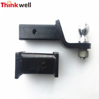 Factory Price High Quality 4wd Adjustable Receiver Tow Pintle Hook with Hitch Ball