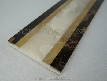 Global Glaze New Products Marble Stone Easy Border Design