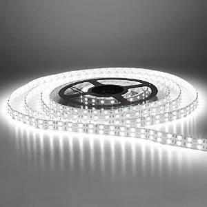 Ninth-City 5 Meters 600 LEDs Double Row 5050 SMD Non-waterproof DC 12V LED Strip Light (White)