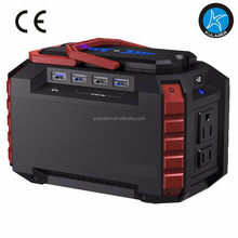 Portable Power Station 150Wh Quiet Gas Free Solar Generator QC3.0 UPS Lithium Power Supply with Dual 110V AC Outlet