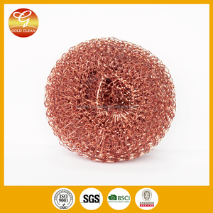 kitchen copper mesh scrubber