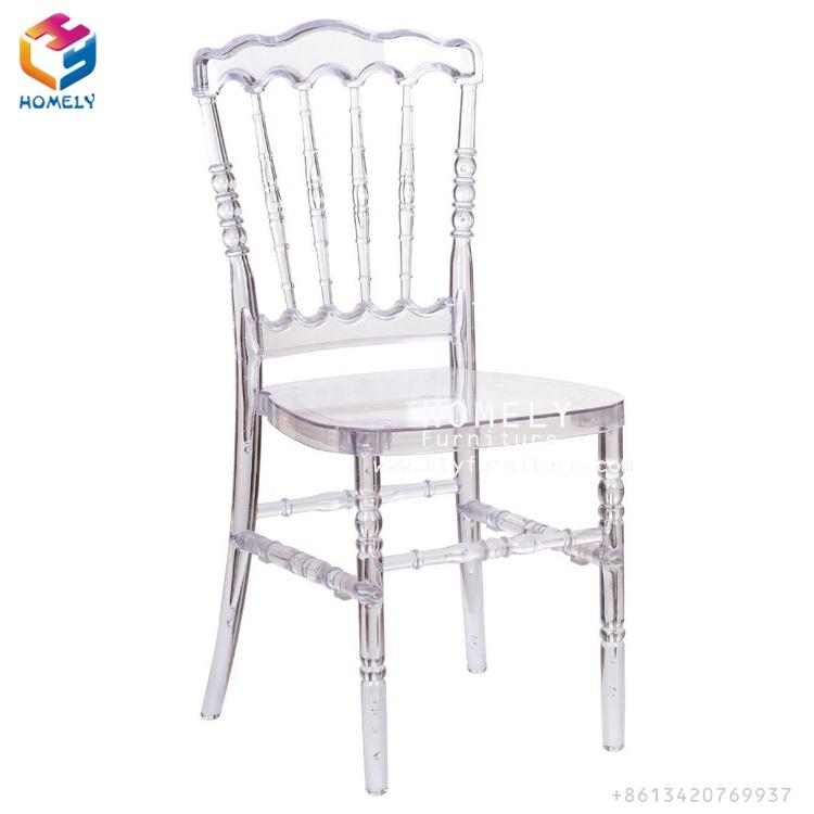 Fashionable Manufacturer Wedding Napoleon Chair Transparent