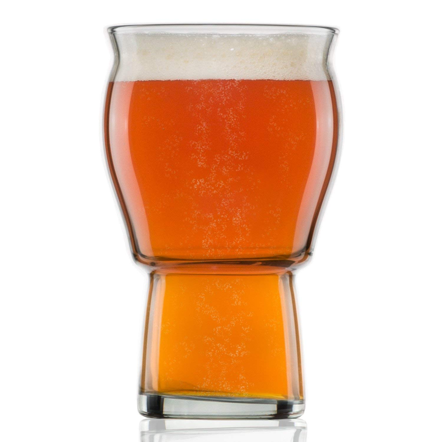 d233a303b Get Quotations · Nucleated Beer Pint Glass- A Beer Glass for Beer Drinkers  - Nucleated for Better Head